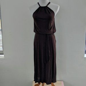 Brown Banana Republic Halter Dress